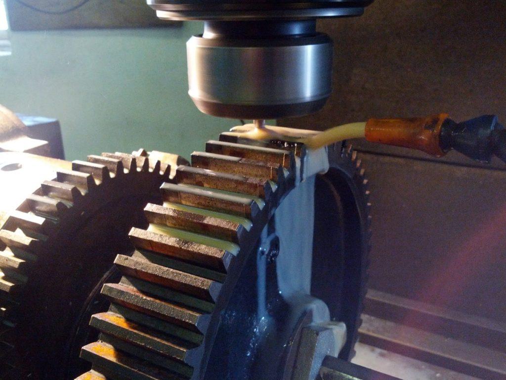 Rep af tandhjul til smøreoliepumpedrev