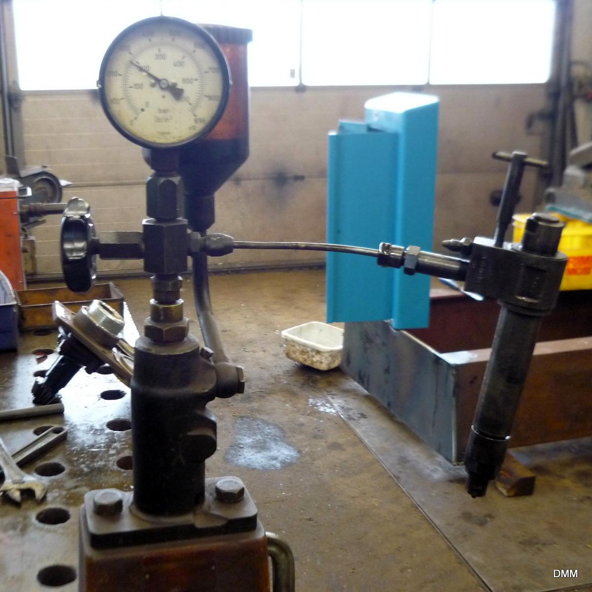 Bukh motor på værkstedet